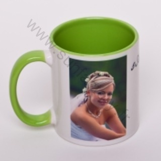 tasse personnalis e bi colore mug avec photo. Black Bedroom Furniture Sets. Home Design Ideas